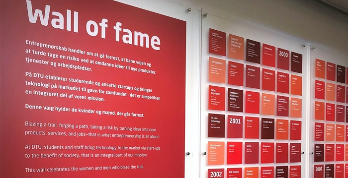 Wall of fame (Photo: DTU)